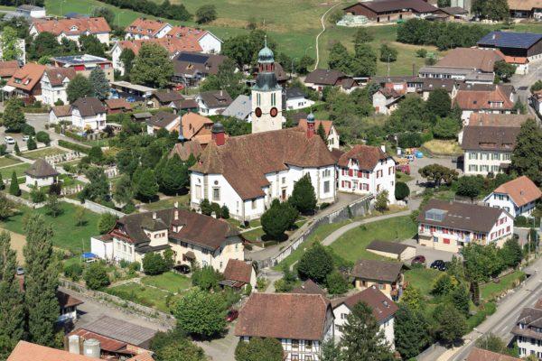 Die Pfarr- und Wallfahrtskirche Oberdorf (SO). (Foto: Guido Schenker, Kantonale Denkmalpflege)
