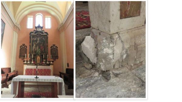 L'autel principale et la balustrade qui a besoin d'une rénovation (Photos: màd).